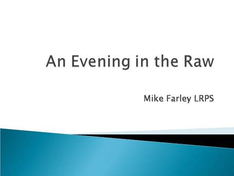 Evening in the Raw title slide